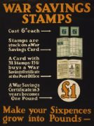 "Vintage ""War saving stamps"" Poster"
